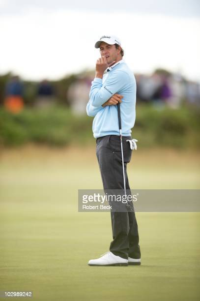 British Open Adam Scott during Saturday play at Old Course St Andrews Scotland 7/17/2010 CREDIT Robert Beck