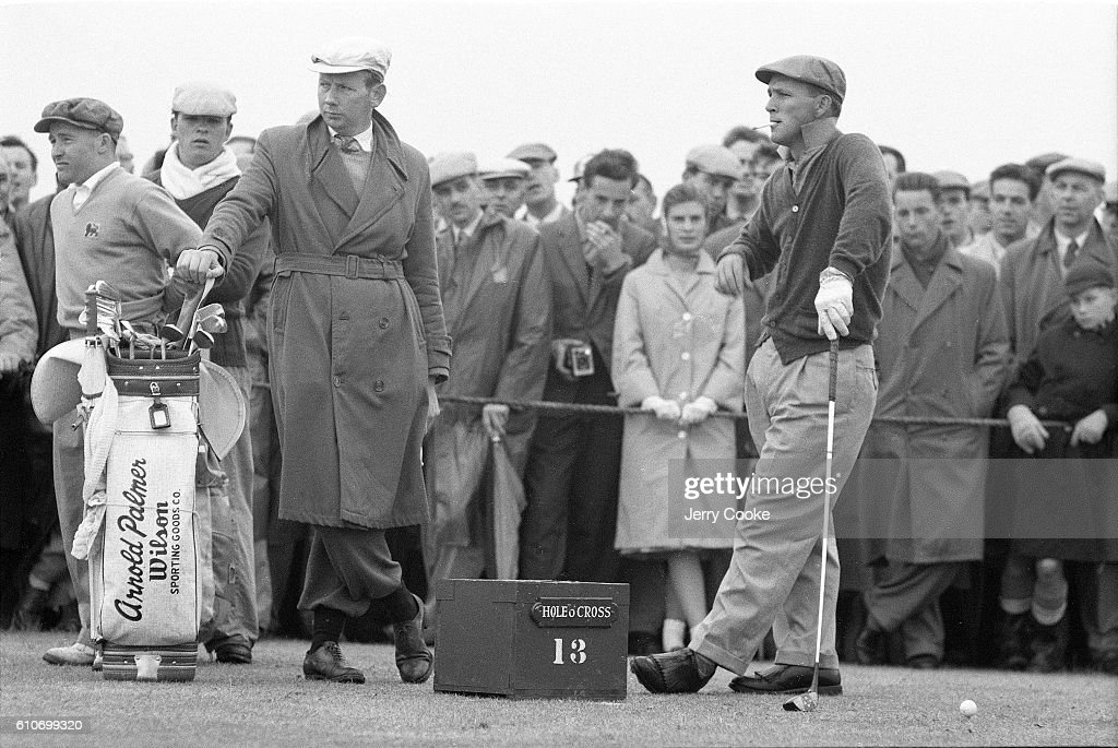 golf-british-open-arnold-palmer-looks-on-from-no-13-tee-during-play-picture-id610699320