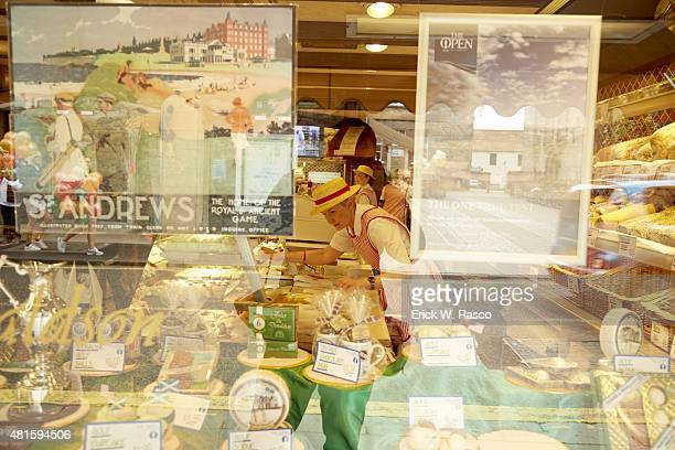 British Open Closeup of food through store window of Fisher and Donaldson bakery on Church Street St Andrews Scotland 7/16/2015 CREDIT Erick W Rasco
