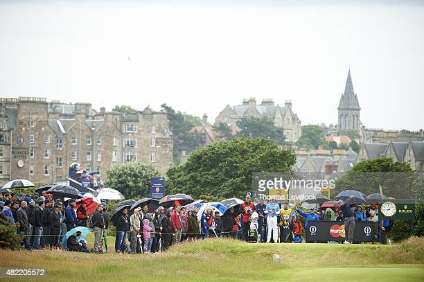 British Open Eddie Pepperell in action drive during Final Round on Monday at Old Course St Andrews Scotland 7/20/2015 CREDIT Thomas Lovelock