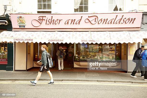 British Open Exterior view of store window of Fisher and Donaldson bakery on Church Street St Andrews Scotland 7/16/2015 CREDIT Erick W Rasco