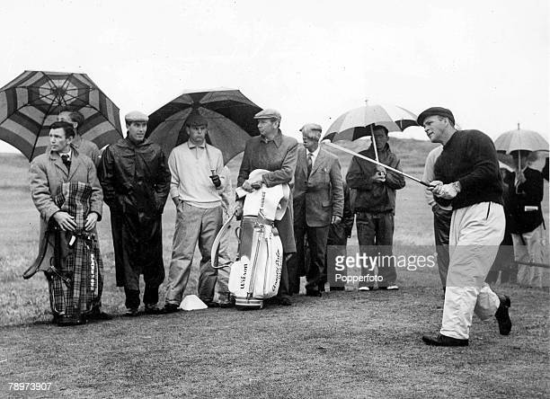 Golf British Open Golf Championships 10th July 1961 Royal Birkdale Southport Lancashire Americas Arnold Palmer driving from the second tee Palmer...
