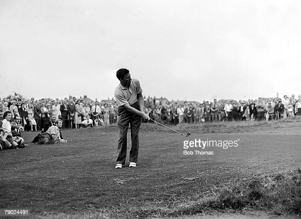 Golf British Open Golf Championships July 1958 Royal Lytham St Annes Lancashire Australias Peter Thomson plays a delicate pitch shot on to the green...