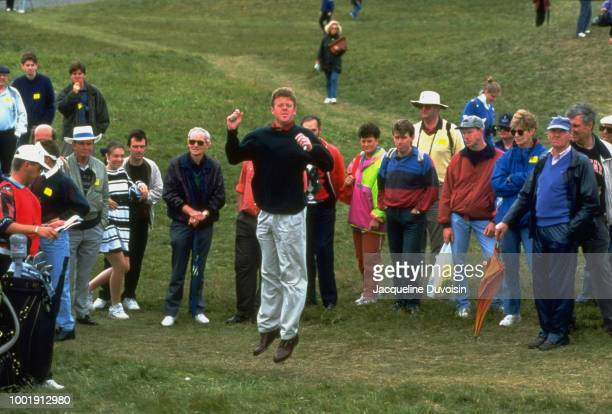 Greg Turner in rough jumping to see pin during tournament at Ailsa Course of Turnberry GC. South Ayrshire, Scotland 7/14/1994 -- 7/17/1994 CREDIT:...