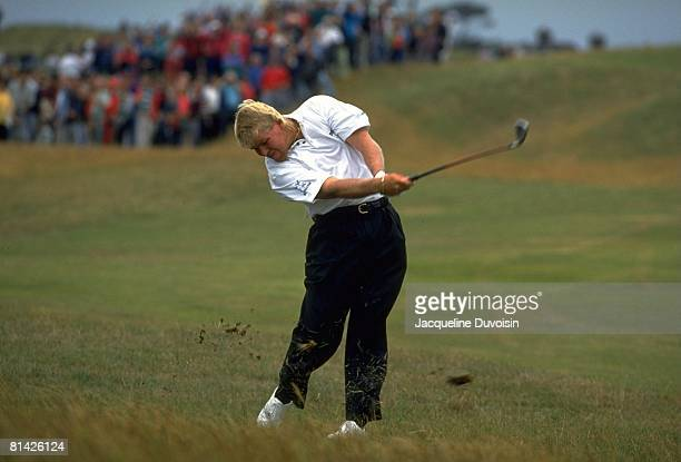 Golf British Open John Daly in action drive on Sunday at Royal St Georges Sandwich GBR 7/18/1993
