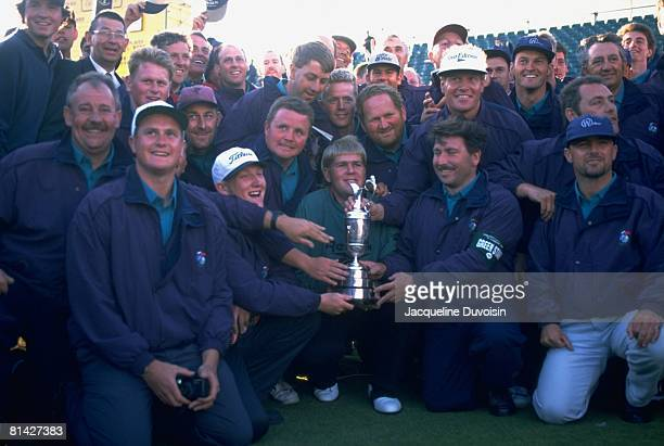 Golf: British Open, John Daly victorious with Claret Jug, trophy after winning tournament on Sunday at Old Course, St, Andrews, GBR 7/23/1995
