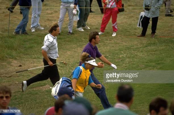 British Open Nick Faldo walking between holes during tournament at Muirfield Golf Links Gullane Scotland 7/16/1992 7/19/1992 CREDIT Jacqueline...