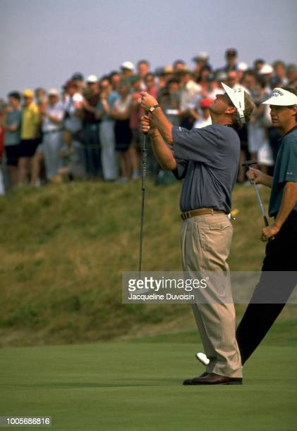 British Open Sandy Lyle upset after missing putt during Saturday play at Royal Lytham GC Lytham St Annes England CREDIT Jacqueline Duvoisin
