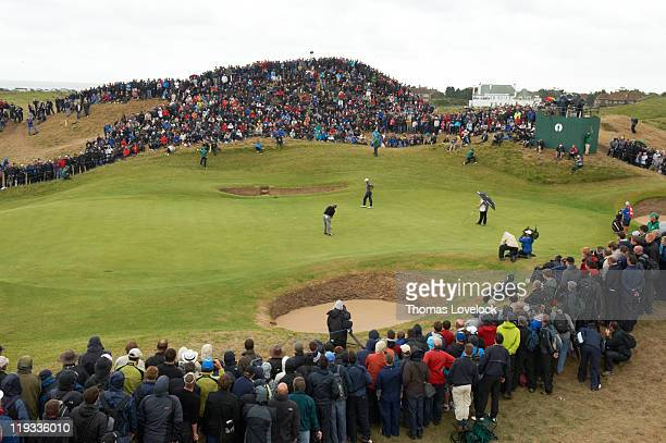 Scenic view of Darren Clarke on No 6 green during Sunday play at Royal St. George's GC. Sandwich, England 7/17/2011 CREDIT: Thomas Lovelock