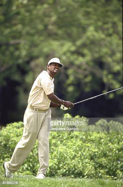 Golf Buick Classic Vijay Singh in action drive on Saturday at Westchester CC Harrison NY 6/10/2000