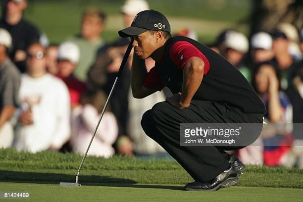 Golf Buick Invitational Tiger Woods during Sunday play at Torrey Pines GC La Jolla CA 1/23/2005