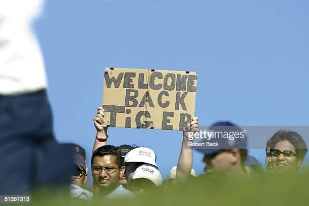 Golf: Buick Invitational, Tiger Woods fans at Torrey Pines, La Jolla, CA 2/14/2003