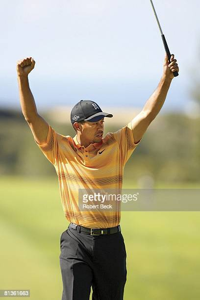Golf Buick Invitational Tiger Woods victorious during Friday play at Torrey Pines GC La Jolla CA 1/27/2006