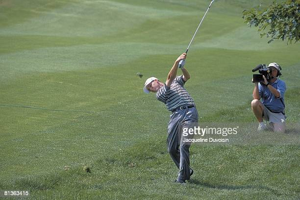 Golf: Buick Open, Sergio Garcia in action, drive on Sunday at Westchester CC, Harrison, NY 6/11/2000