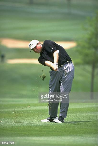 Golf: Byron Nelson Classic, Charlie Rymer in action, drive on Sunday, Irving, TX 5/12/1996