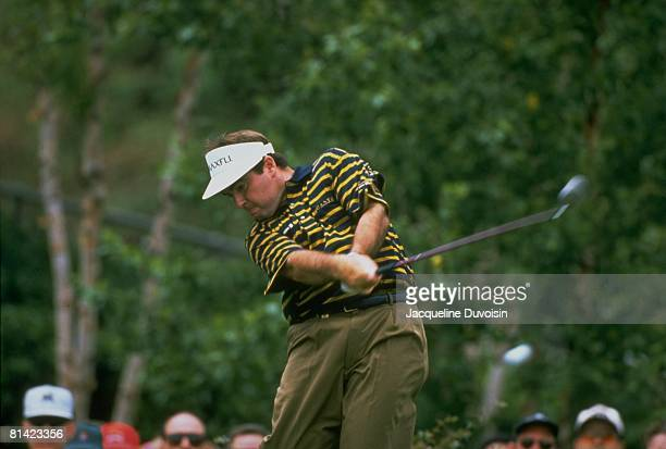 Golf Byron Nelson Classic Craig Parry in action drive on Sunday Irving TX 5/12/1996