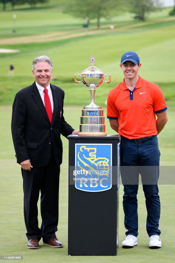 Golf Canada Charlie Beaulieu and Rory McIlroy pose with the trophy... News  Photo - Getty Images