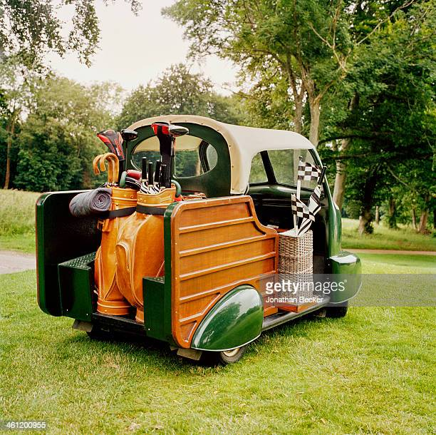 A golf cart is photographed for Vanity Fair Magazine on June 27 2012 at Goodwood in Chichester England