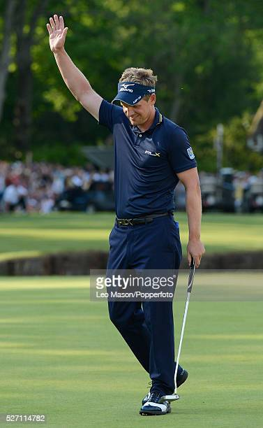 Golf Championships Wentworth UK Winner and new world number One Luke Donald ENG on 18th green