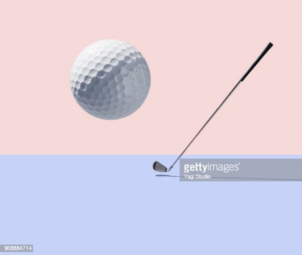 golf club and golf ball - golf ball stock pictures, royalty-free photos & images