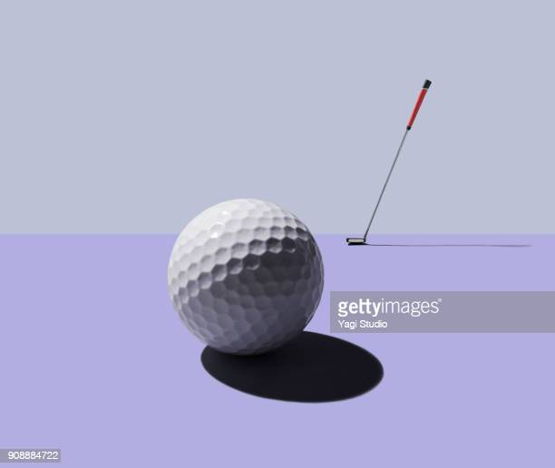 golf club and golf ball - sports equipment stock pictures, royalty-free photos & images