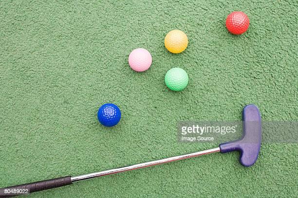 Golf club and golf balls