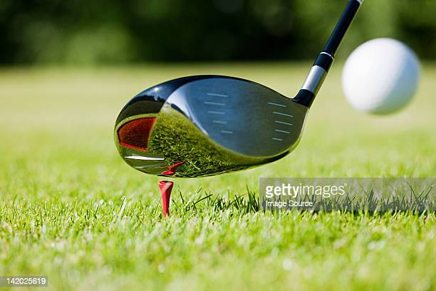 golf club and tee - golf club stock pictures, royalty-free photos & images