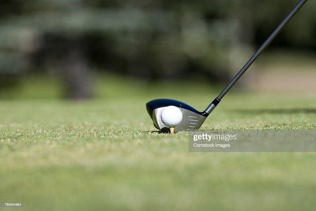 Golf club , ball and tee : Stockfoto