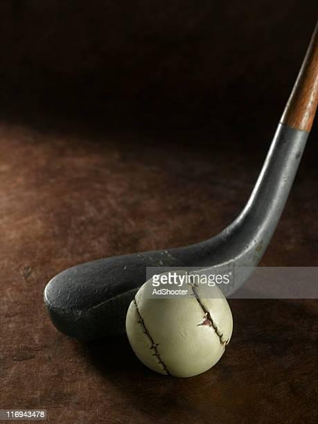 golf clubs  vintage - st. andrews schotland stockfoto's en -beelden