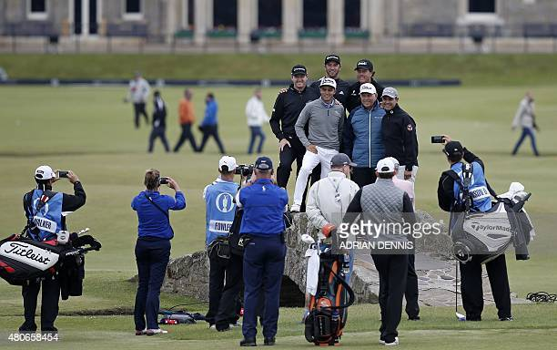 Golf coach Butch Harmon and his golfers US golfer Jimmy Walker US golfer Dustin Johnson and US golfer Phil Mickelson US golfer Rickie Fowler Butch...