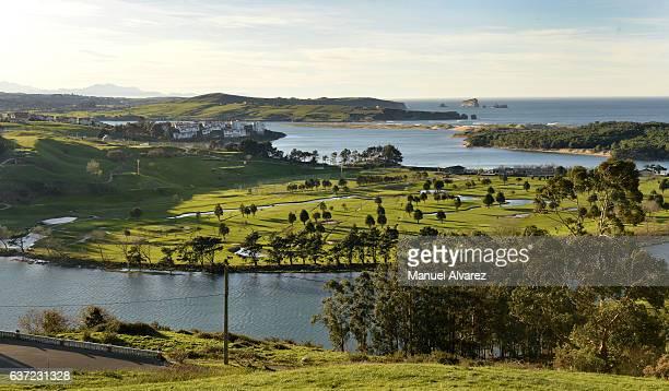 Golf course in Mogro, Cantabria, Spain