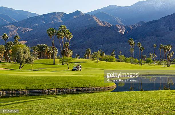 golfplatz in palm springs, kalifornien, tel. - palm springs stock-fotos und bilder