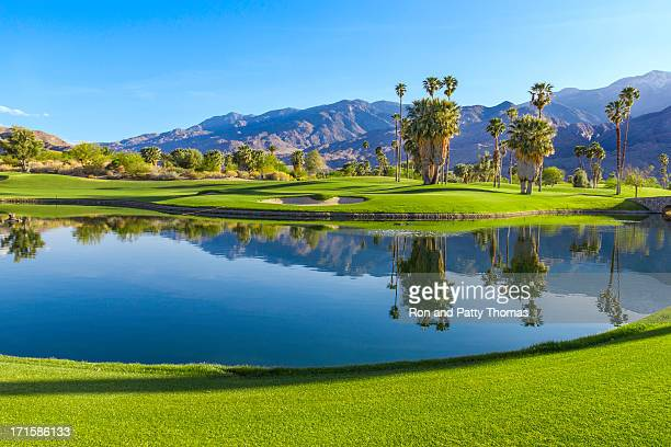 golf course in palm springs, california (p) - california stock pictures, royalty-free photos & images