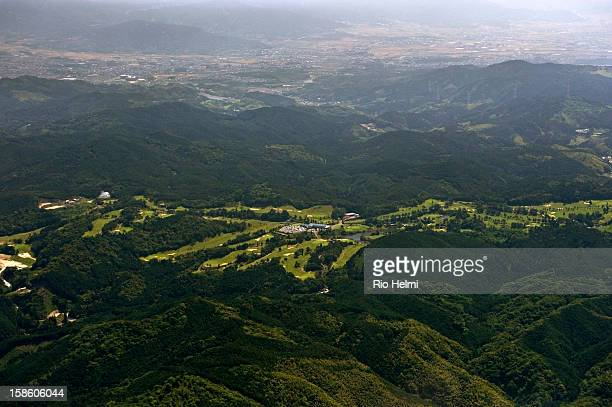 A golf course in the hills southeast of Fukuoka