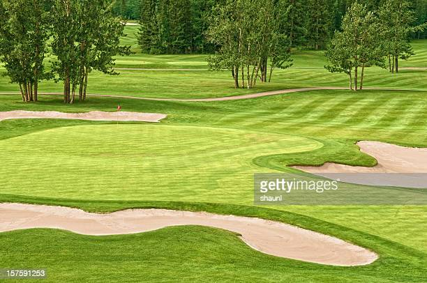 golf course - sand trap stock pictures, royalty-free photos & images