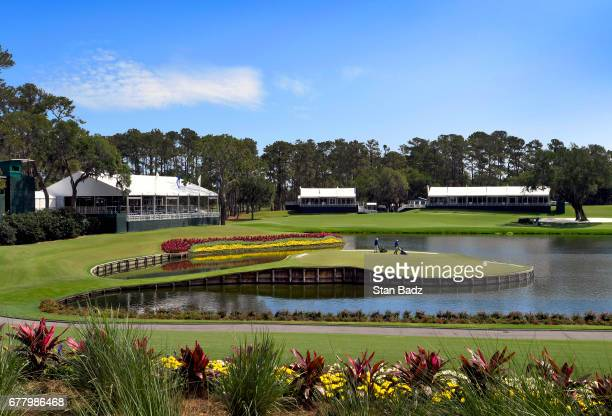 Golf course preview of the 17th hole prior to THE PLAYERS Championship on THE PLAYERS Stadium Course at TPC Sawgrass on May 2 in Ponte Vedra Beach