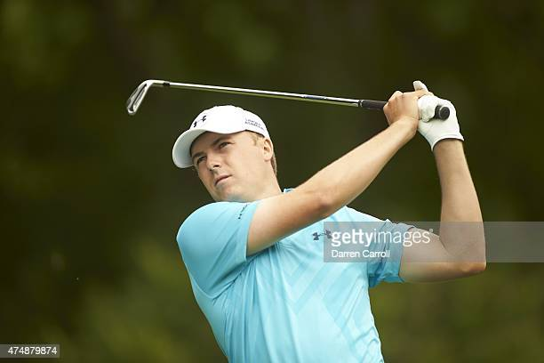 Crowne Plaza Invitational: Closeup of Jordan Spieth in action, drive on Thursday at Colonial CC. Fort Worth, TX 5/21/2015 CREDIT: Darren Carroll