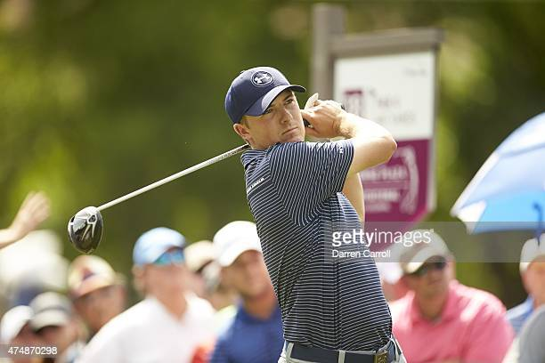 Crowne Plaza Invitational: Jordan Spieth in action, drive on Sunday at Colonial CC. Fort Worth, TX 5/24/2015 CREDIT: Darren Carroll