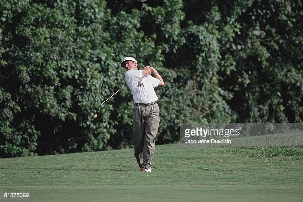 Golf Doral Open Fred Couples in action drive on Sunday Miami FL 3/8/1992