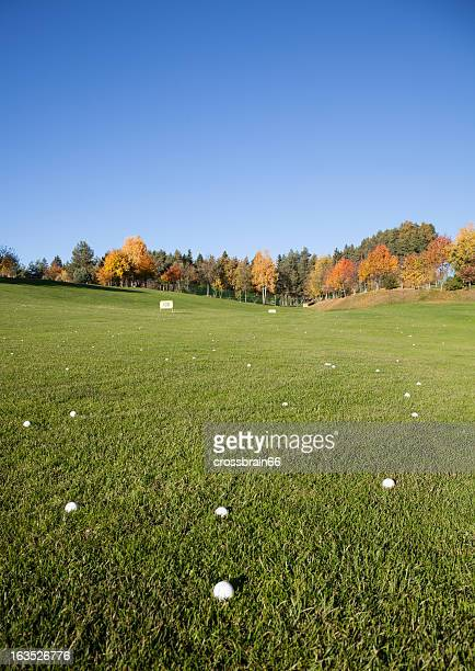golf driving range meadow scenic - driving range stock photos and pictures