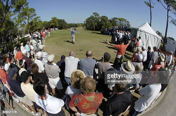 Golf fans line the first tee during the final round of the 2005 Chrysler Championship at the Westin Innsbrook Resort Copperhead Course in Palm Harbor...