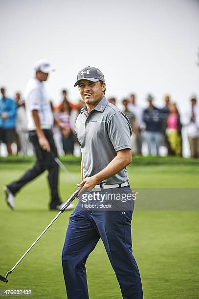 Farmers Insurance Open Jordan Spieth during Sunday play at Torrey Pines GC La Jolla CA CREDIT Robert Beck