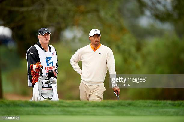 Farmers Insurance Open Tiger Woods and caddie Joe LaCava during Thursday play at Torrey Pines GC La Jolla CA CREDIT Robert Beck