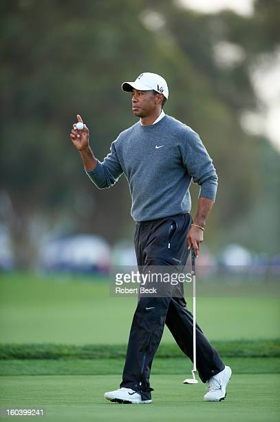 Farmers Insurance Open Tiger Woods during Sunday play at Torrey Pines GC La Jolla CA CREDIT Robert Beck