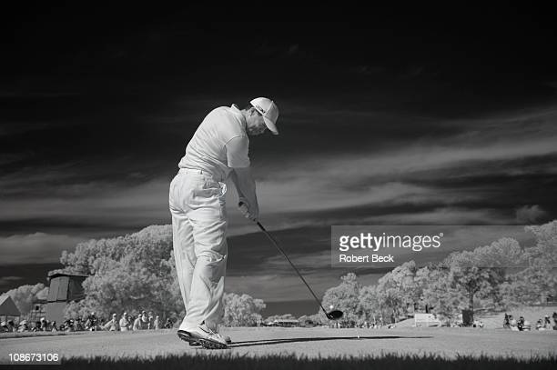 Farmers Insurance Open Tiger Woods during Wednesday ProAm before tournament at Torrey Pines GC Photographer used infrared setting on a digital...