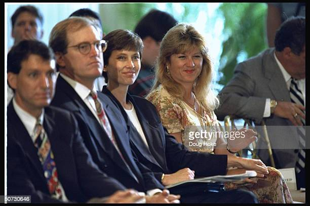 Feature Portrait of Paul Azinger's wife Toni in crowd at press conference