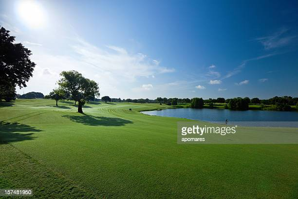 golf fields - golf course stock pictures, royalty-free photos & images