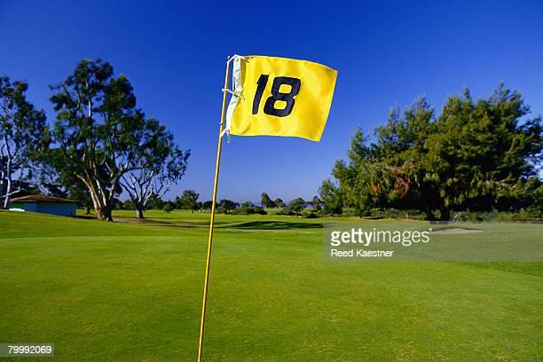 Golf Flag on the Eighteenth Hole