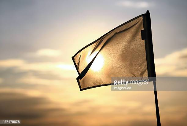 golf flag - golf flag stock photos and pictures