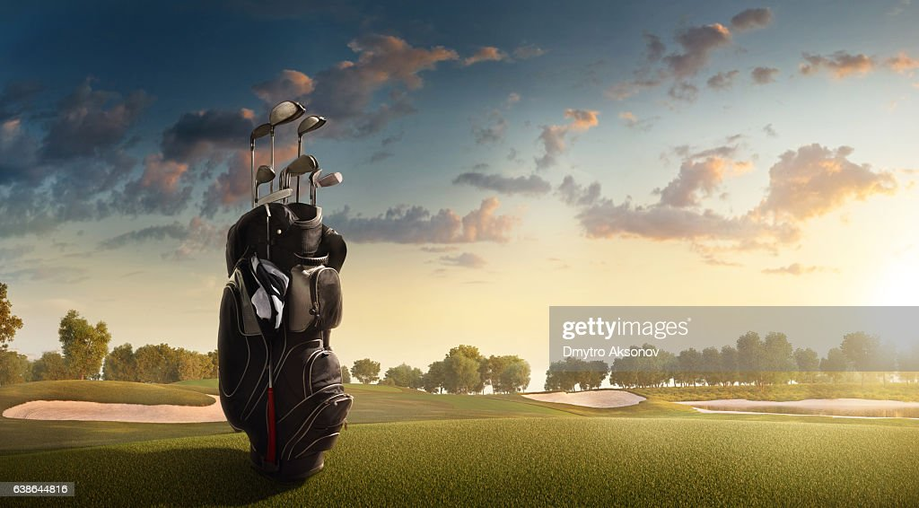 Golf: Golf course : Stock Photo